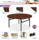 Platinum Round Folding Tables - 6ft