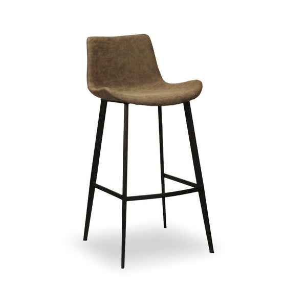 High back upholstered bar stool - Rover