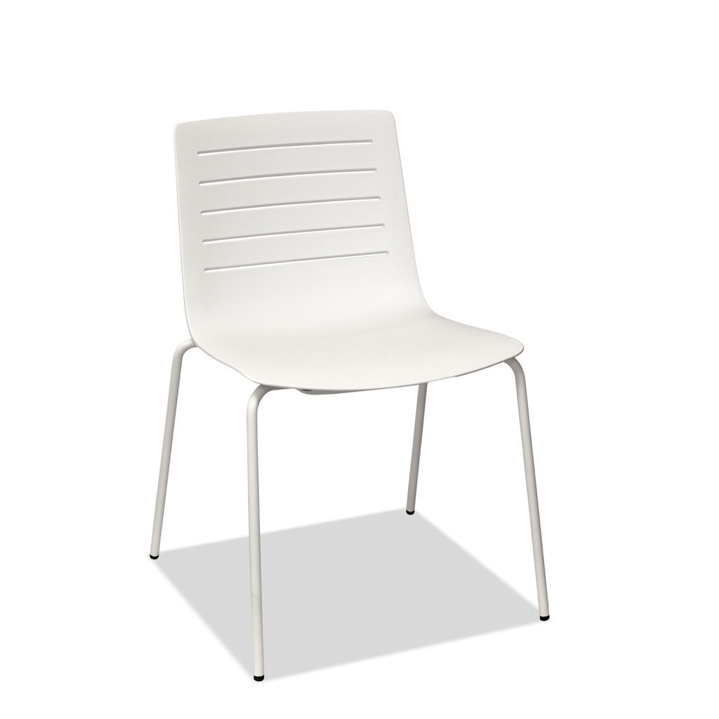 restaurant chair - skin - stackable - white