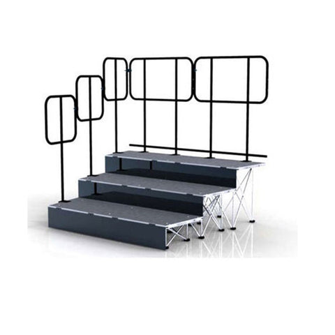 lightweight portable staging hand rails