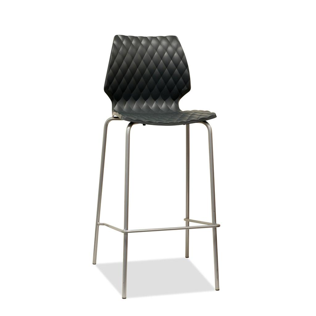 Uni Barstool by Metalmobil - Anthracite