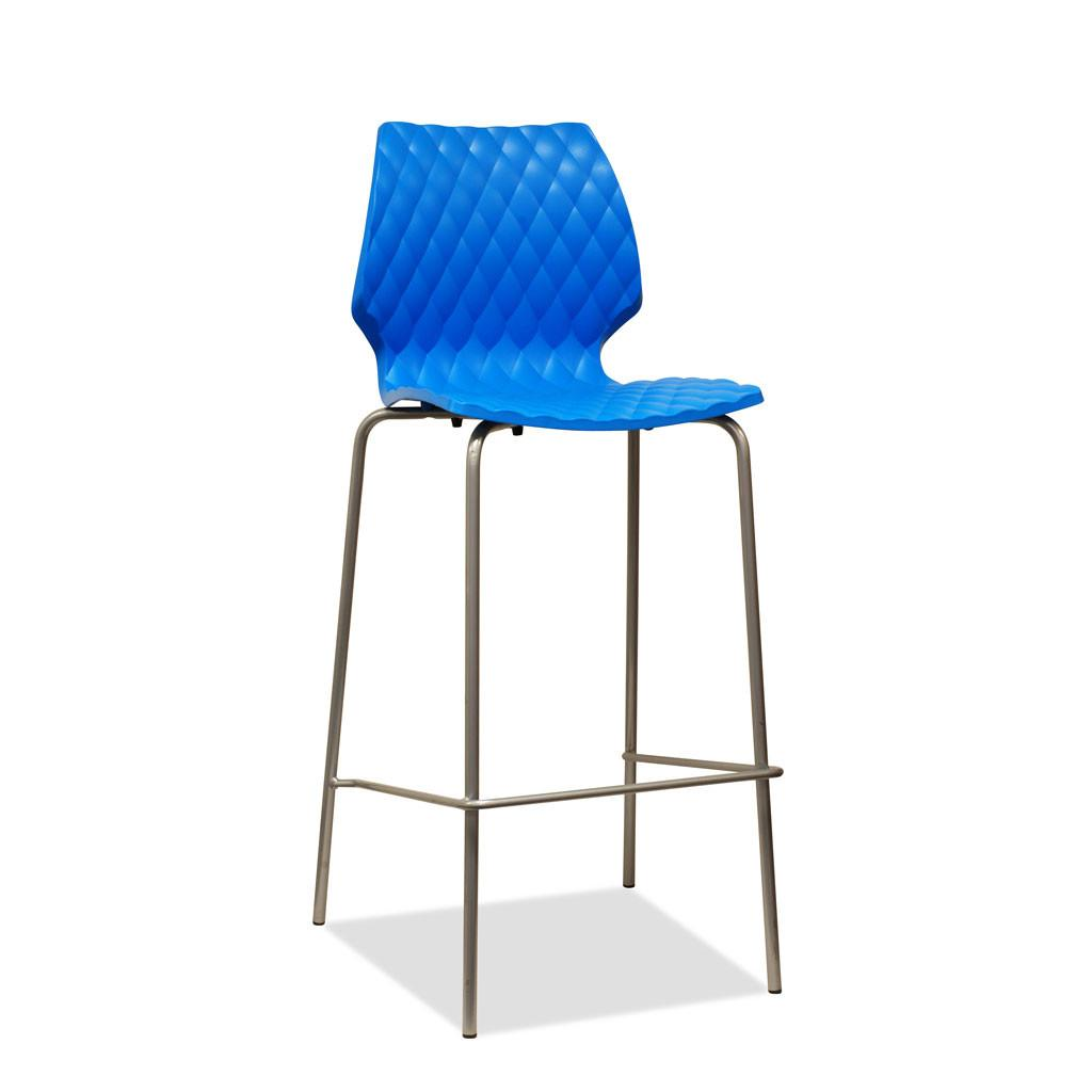 Uni Barstool by Metalmobil -  Azure