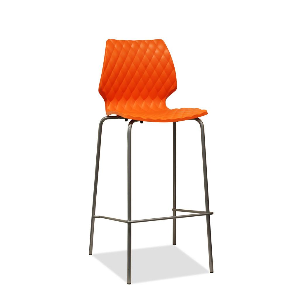 Uni Barstool by Metalmobil- Orange