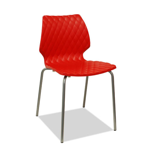 outdoor cafe chair - uni - red