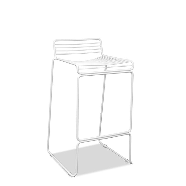 white wire outdoor cafe bar stools - voltage