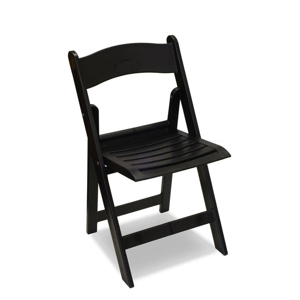 resin folding chair - wimbledon - black