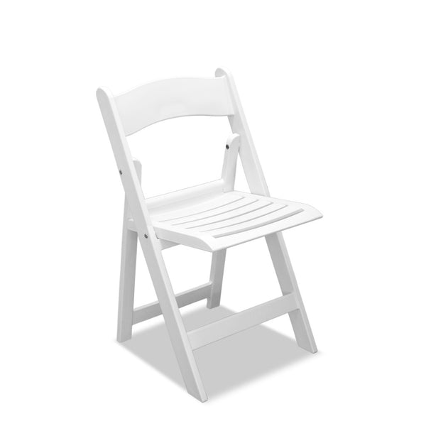 resin folding chair - wimbledon - white
