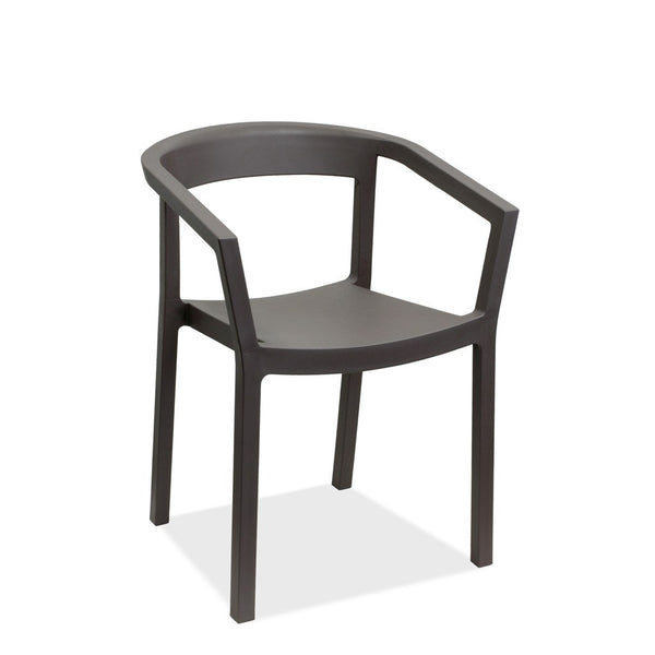 Cafe outdoor chair - Peach arm chair