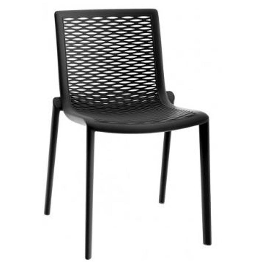 outdoor cafe chair - netkat - resol - black