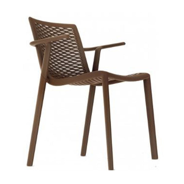 outdoor restaurant chair - netkat arm chair - resol