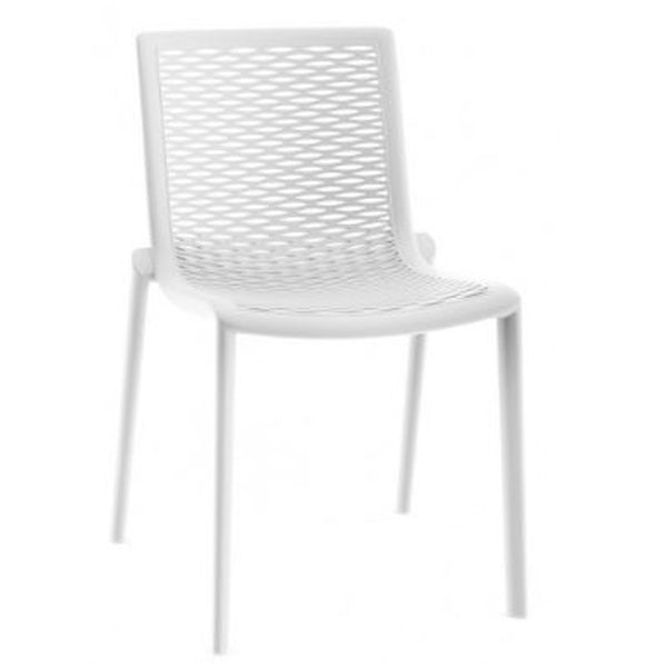 outdoor cafe chair - netkat - resol - white