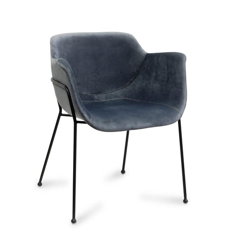 Malory Chair: Metal Legs