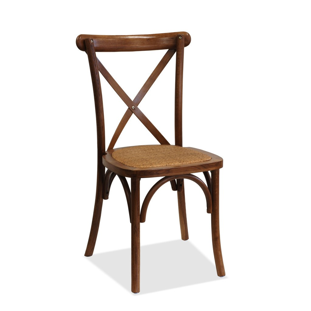 Athena Two Timber Stacking Event Chair - Cross back - Nufurn Commercial Furniture