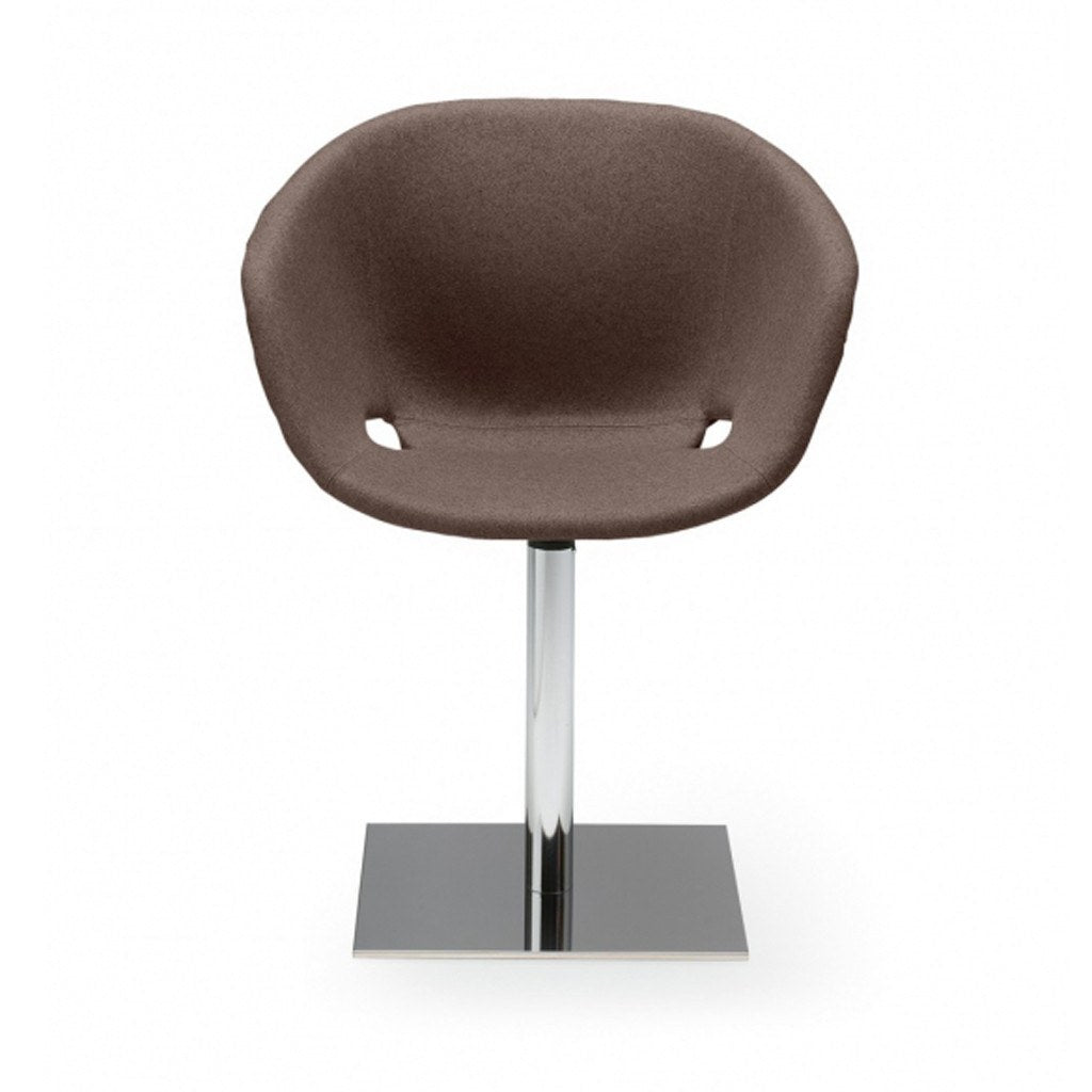 Uni-ka 598m upholstered restaurant chair with central steel base