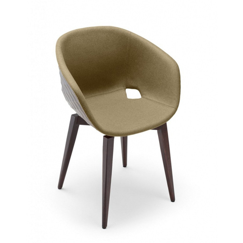 Uni-599 Upholstered restaurant chair timber legs