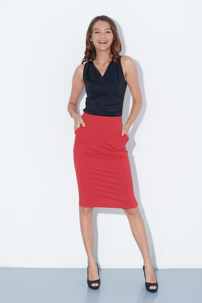 Soph Skirt in Red