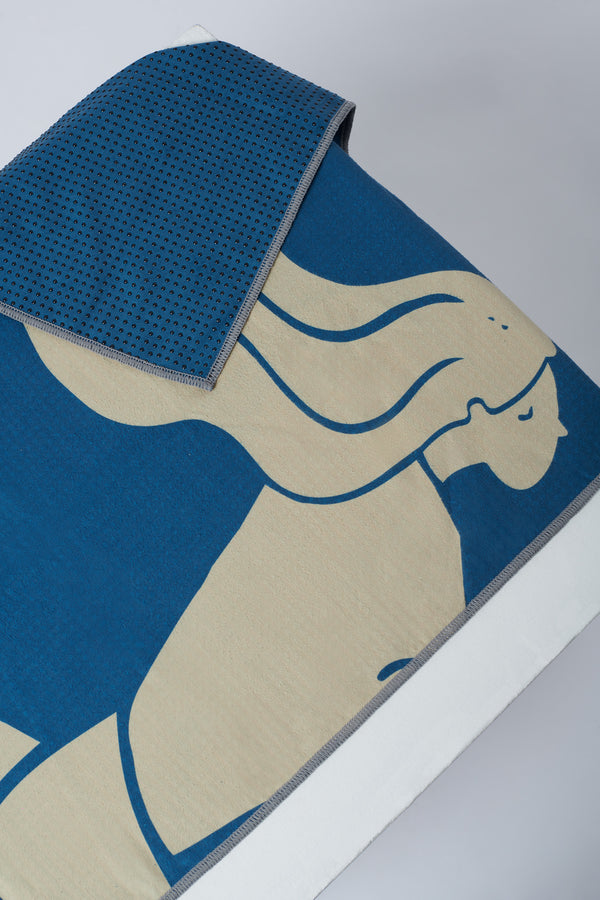 GALE GRIPPY MAT TOWEL IN BLUE
