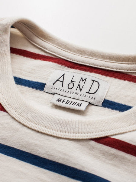 Almond Westport Stripe Natural Tee