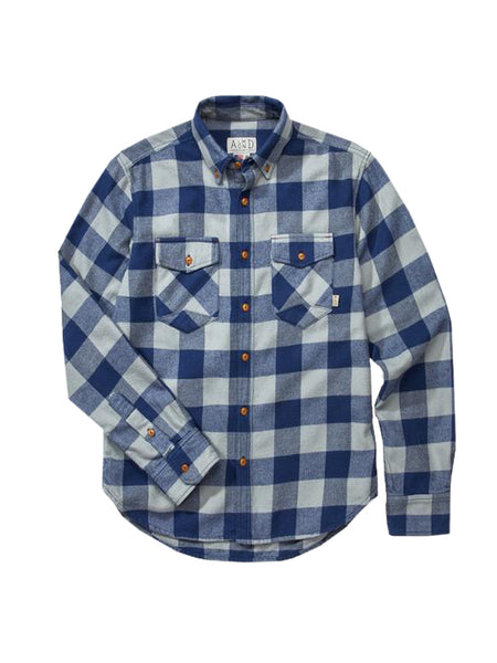 Almond Trailhead Flannel Blue