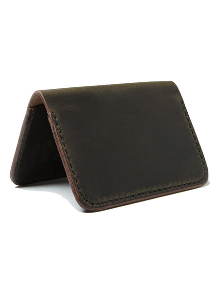 Wood N' Steel 2 Pocket Moss Wallet