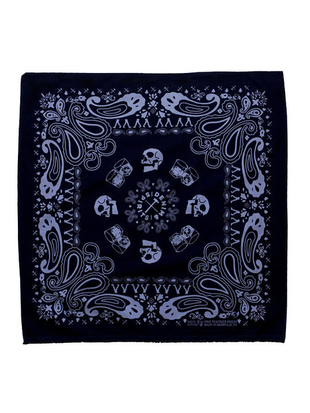 Denim & Spirits Skulls Bandana Black