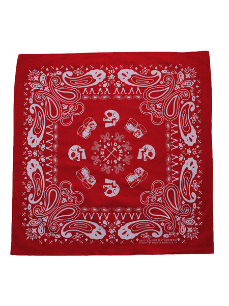 Denim & Spirits Skulls Bandana Red