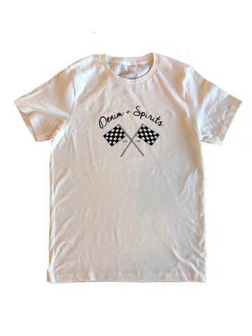Denim & Spirits Checkered Flag Tee