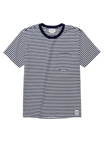 Almond Douglas Stripe Navy Tee