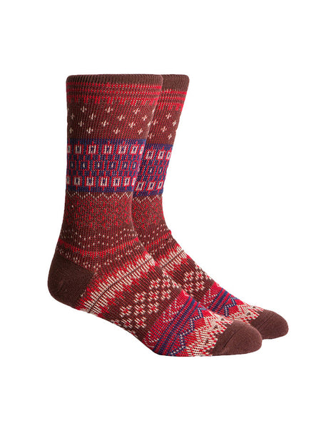 Richer Poorer Fair Isle Red Socks