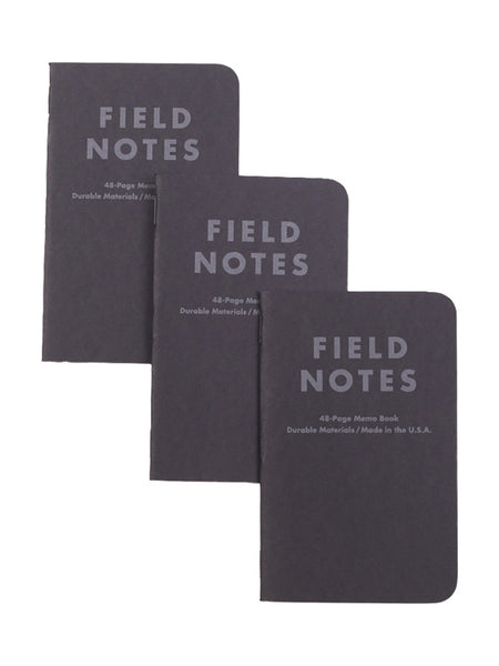 Field Notes Pitch Black Dot Graph