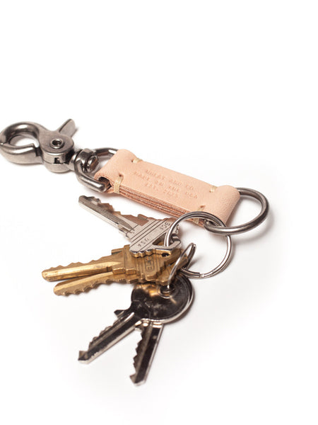 Wheat and Co Natural Leather Key Fob