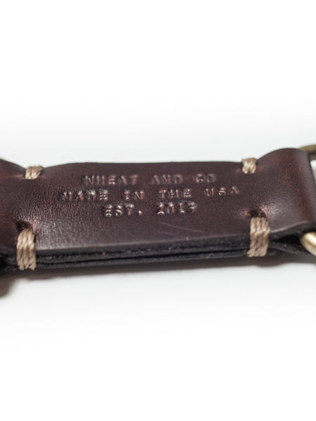 Wheat and Co Chromexel Leather Key Fob