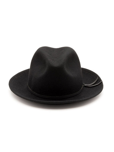 Yellow 108 Luke Fedora Black