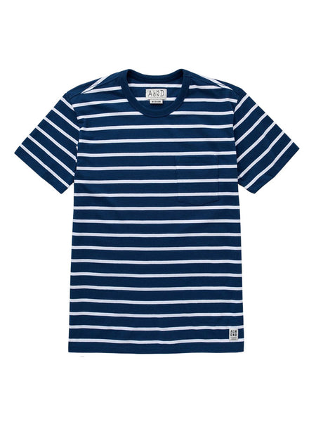 Almond Westport Stripe Navy Tee