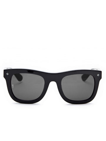 Wonderland Sun Palms Gloss Black Sunglasses