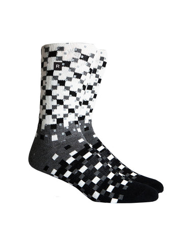 Richer Poorer Pixel Reflective Black Sock