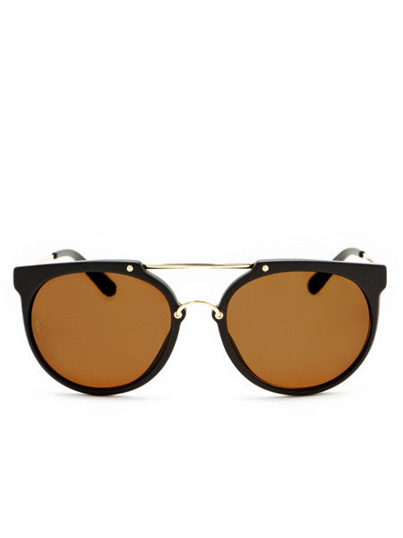 Wonderland Sun Stateline Matt Black Sunglasses