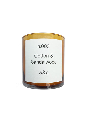 Wheat & Co N003 Cotton & Sandalwood Candle