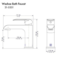Load image into Gallery viewer, ZLINE Washoe Bath Faucet in Chrome (31-0301-CH)