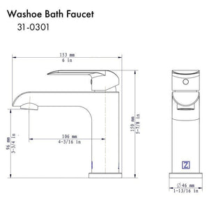 ZLINE Washoe Bath Faucet in Chrome (WSH-BF-CH)