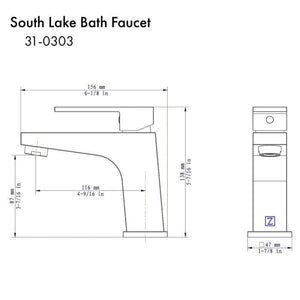 ZLINE South Lake Bath Faucet in Chrome (31-0303-CH)