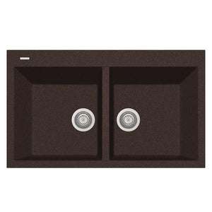 "Latoscana Plados 34"" Drop-In Double Bowl Kitchen Sink"