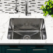 "Load image into Gallery viewer, Nantucket 23"" Hammered Stainless Steel Rectangle Kitchen/Laundry Sink - KSSH2318-12"