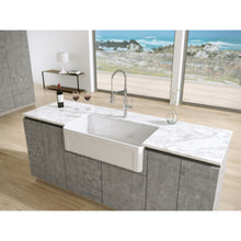 "Load image into Gallery viewer, Latoscana 36"" Reversible Fireclay Single Bowl Farmhouse Sink"