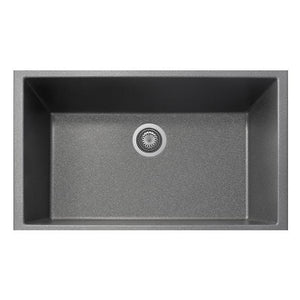 "Latoscana Plados 33"" Undermount Single Bowl Kitchen Sink"