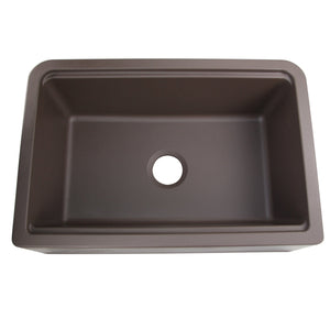 "Nantucket 33"" Reversible Workstation Granite Composite Apron Sink with Accessory Pack - PR3020-APS-BR"