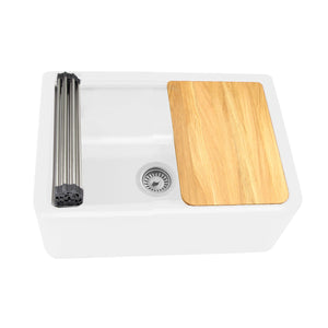 "Nantucket 33"" Reversible Workstation Granite Composite Apron Sink with Accessory Pack - PR3020-APS-W"