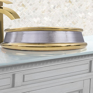 Nantucket St. Bart Fireclay Hand-decorated Vanity Sink - RC74040PG