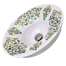 Load image into Gallery viewer, Nantucket Lugano Fireclay Hand-decorated Vanity Sink - RC77240GF