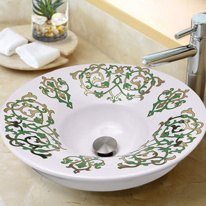 Nantucket Lugano Fireclay Hand-decorated Vanity Sink - RC77240GF